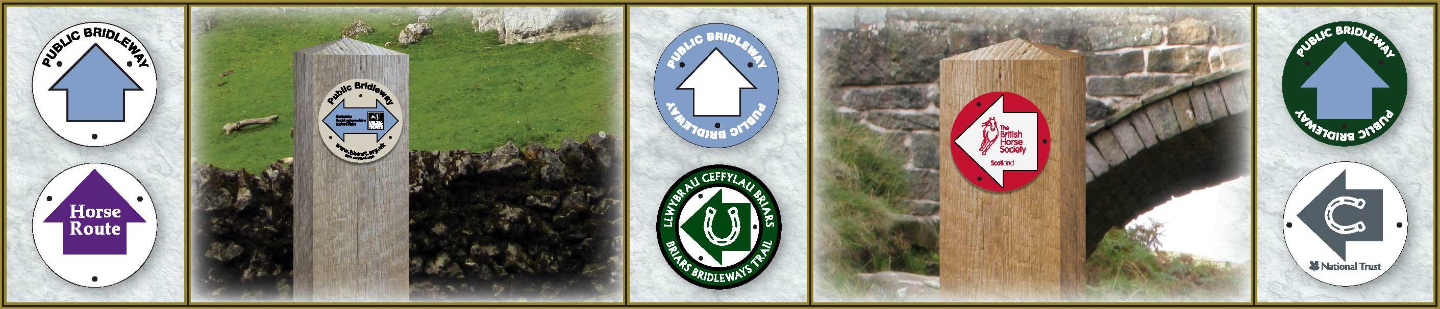 bridleway signs