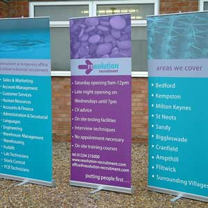 Banners, exhibition stands & Vinyls