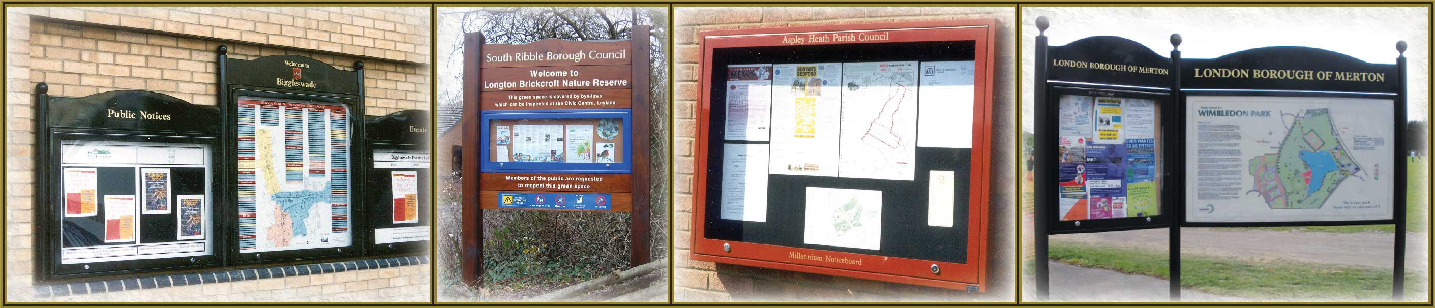 noticeboards and cabinets