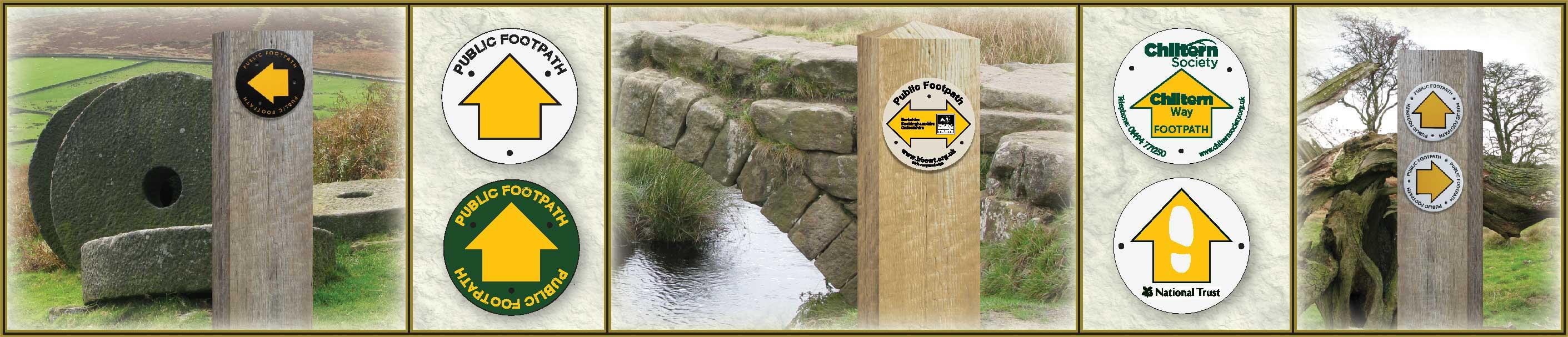public footpath waymarker signs