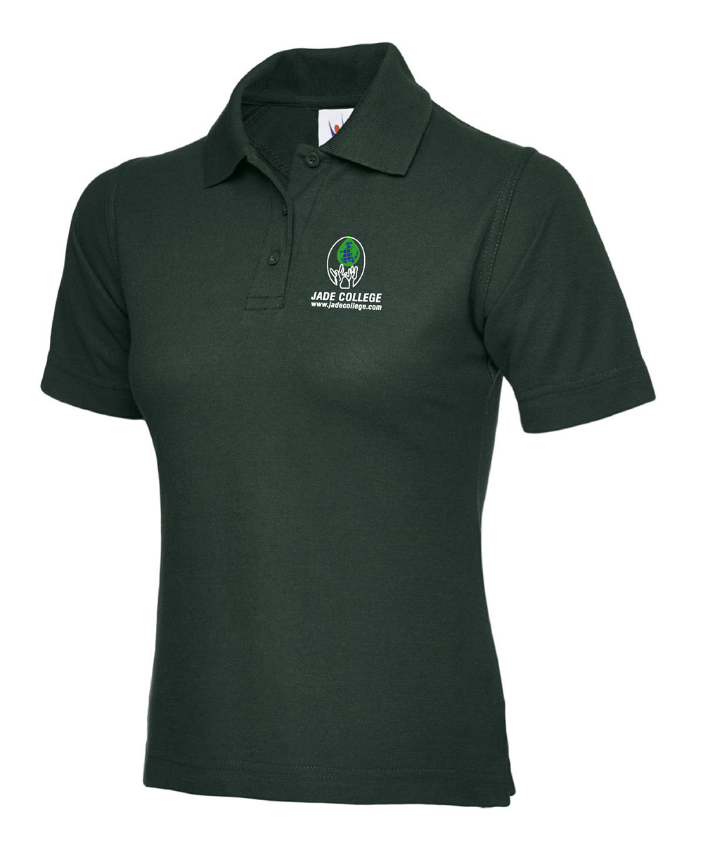jade college ladies fitted polo shirt