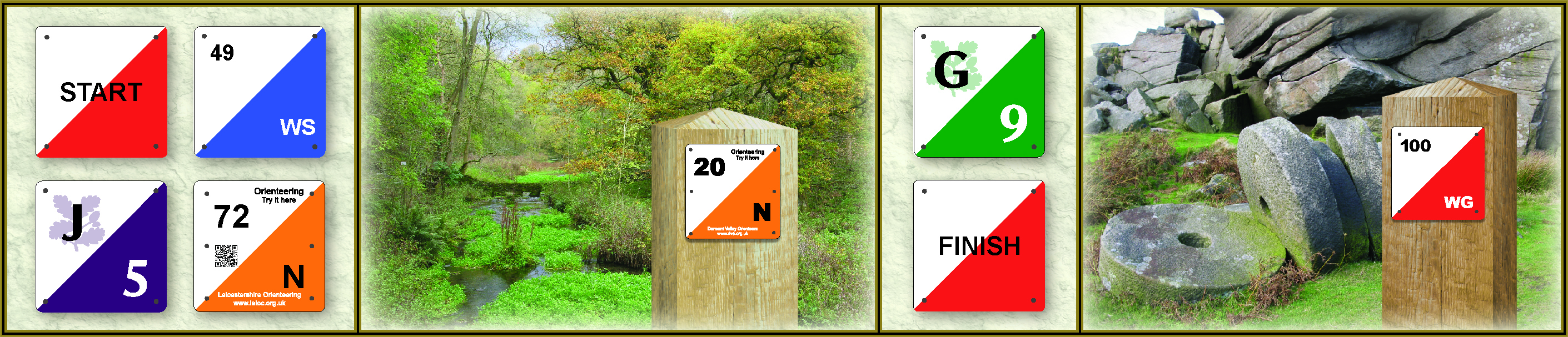 orienteering signs and markers