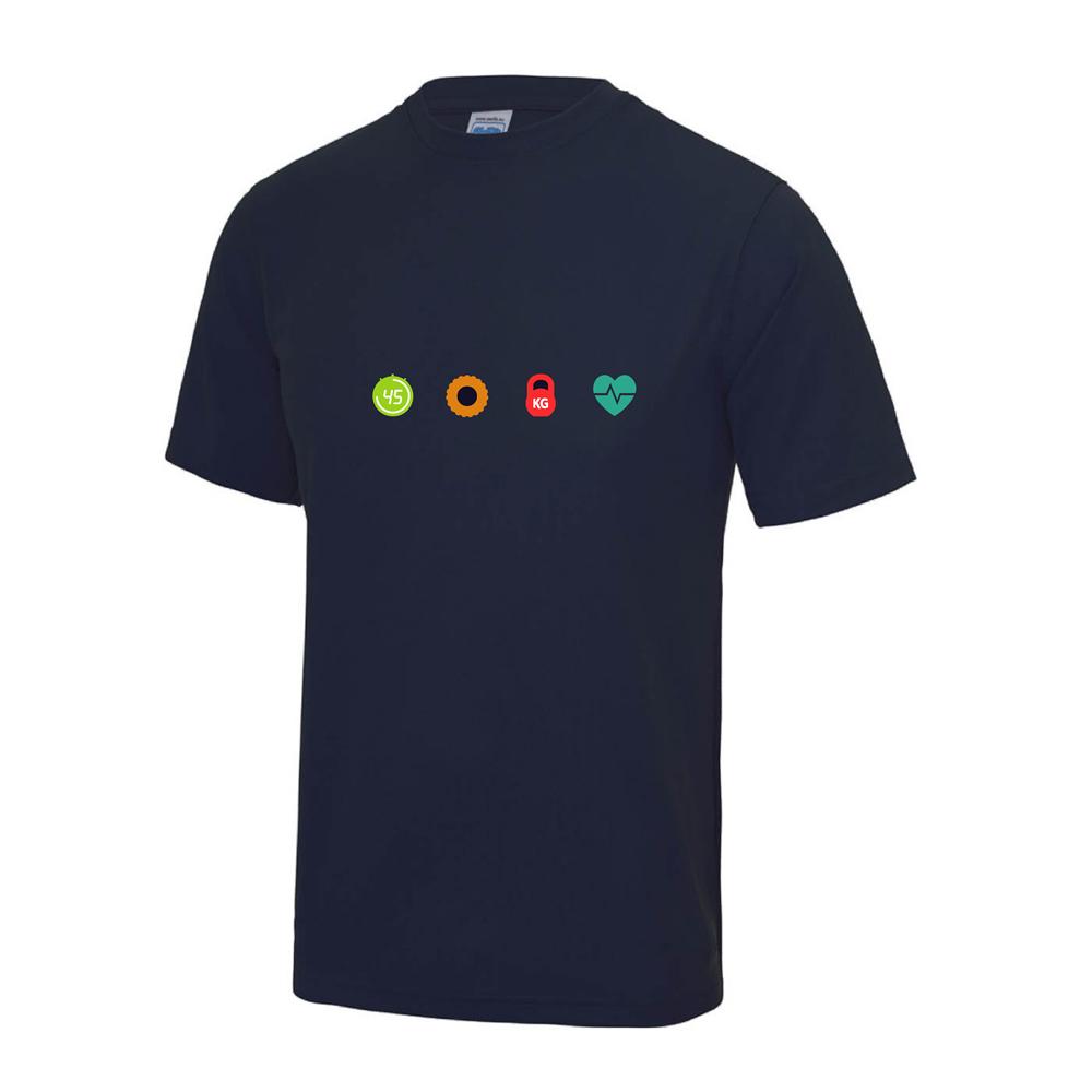 4 seasons fitness french navy chest logo
