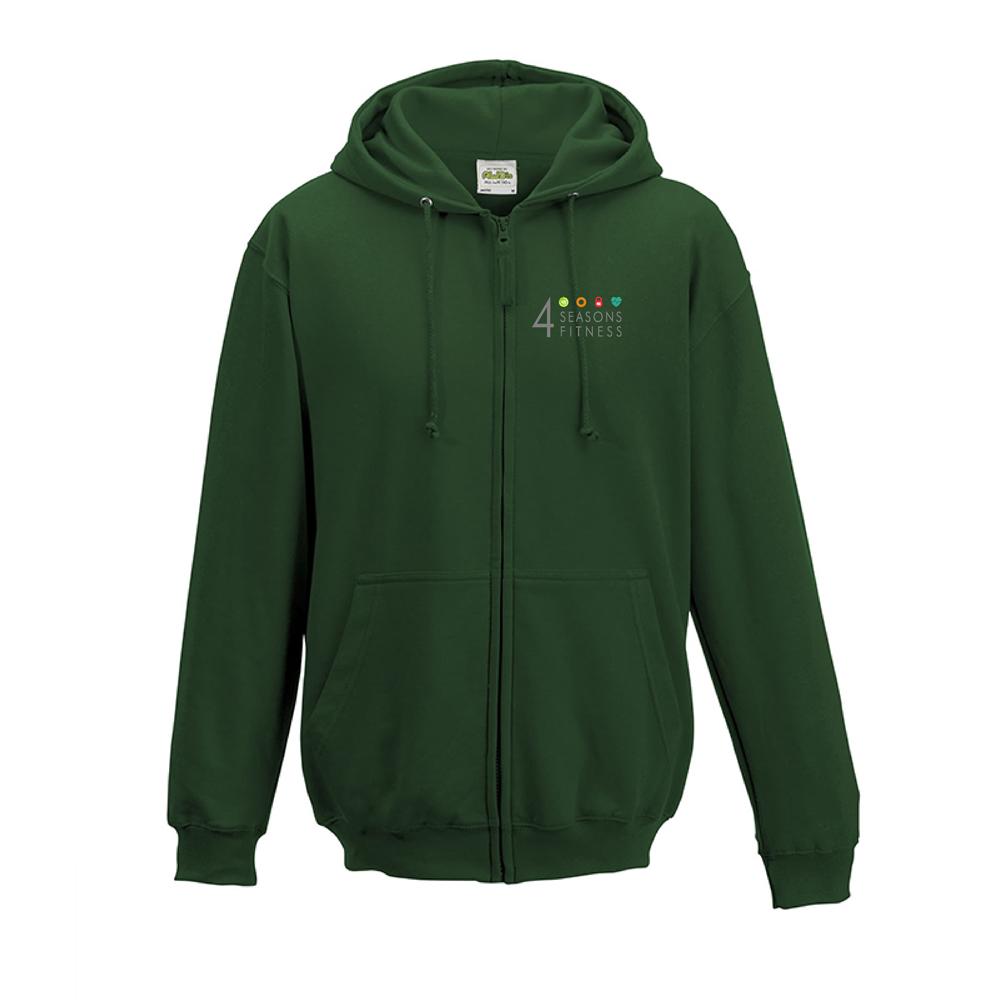 4 seasons fitness bottle green hoodie