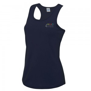4 seasons ladies cool vest french navy with left breast logo