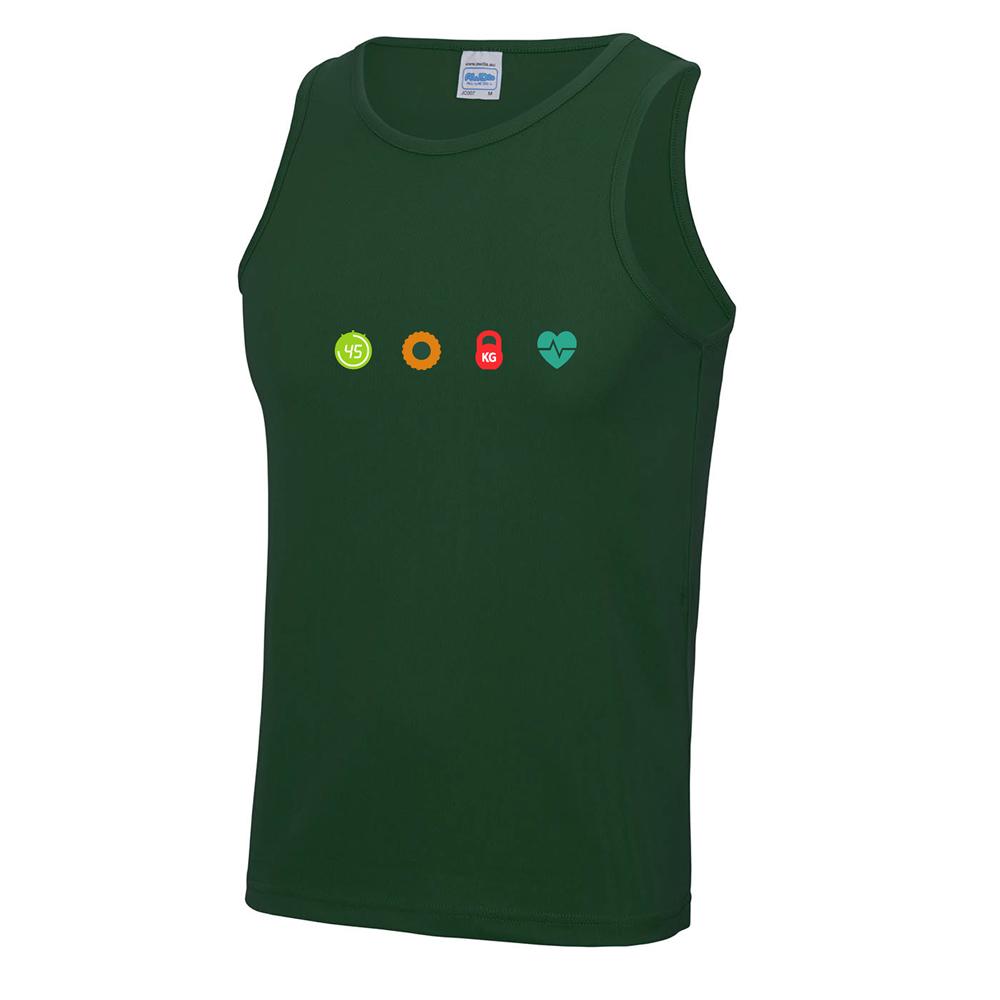 4 seasons mens cool vest bottle green chest logo