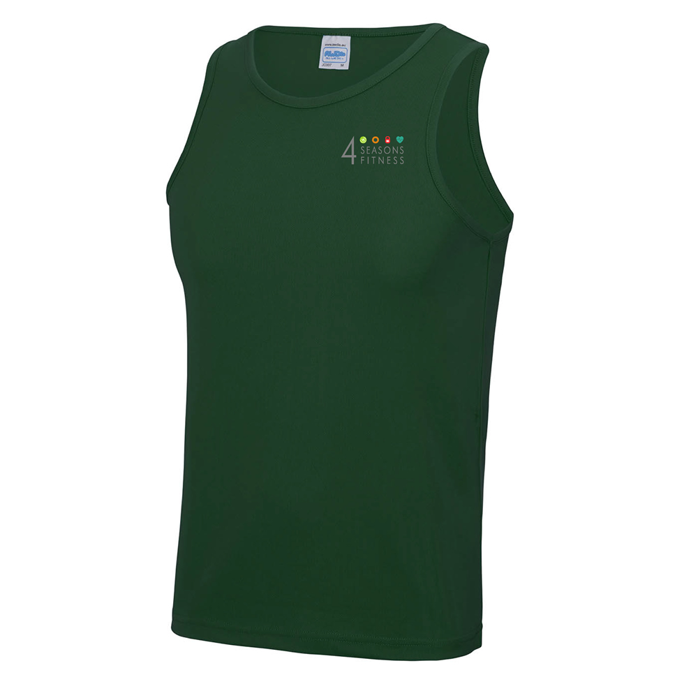 4 seasons mens cool vest bottle green left breast logo