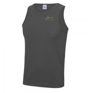 4 seasons mens cool vest charcoal left breast logo