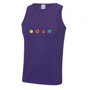 4 seasons mens cool vest purple chest logo
