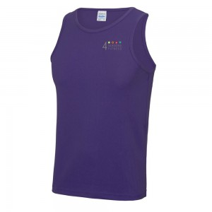 4 seasons mens cool vest purple left breast logo