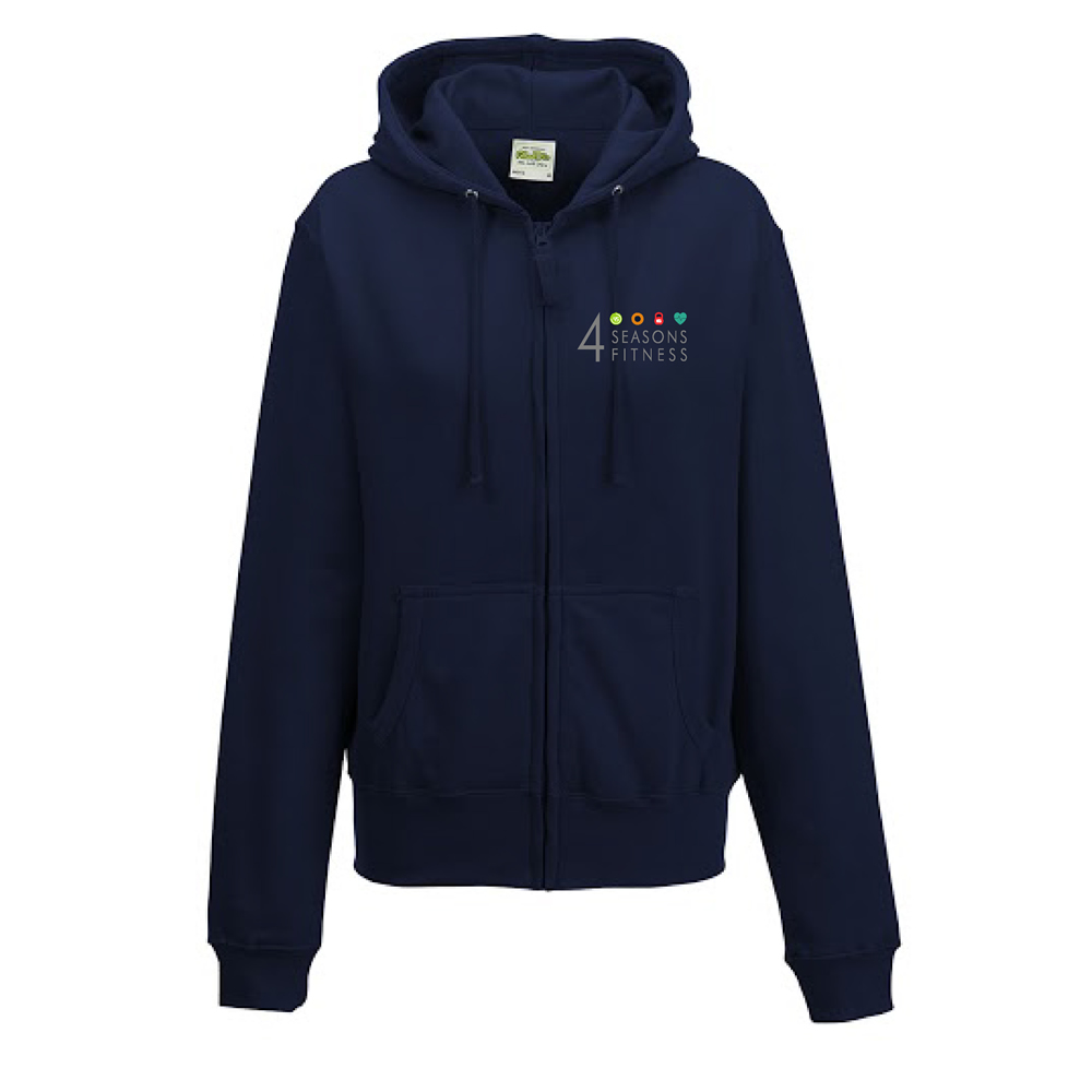 ladies fitted 4 seasons hoodie french blue