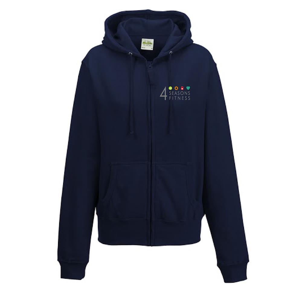 ladies fitted 4 seasons hoodie french blue